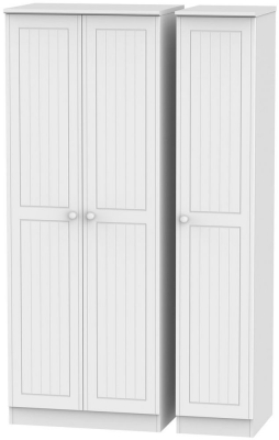 Warwick White 3 Door Tall Plain Wardrobe