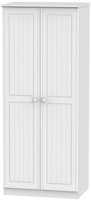 Warwick White Wardrobe - 2ft 6in Plain