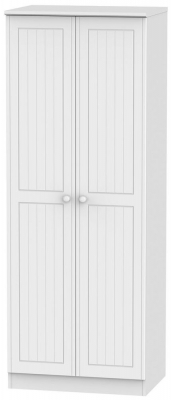 Warwick White 2 Door Tall Plain Wardrobe
