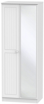 Warwick White Wardrobe - Tall 2ft 6in with Mirror