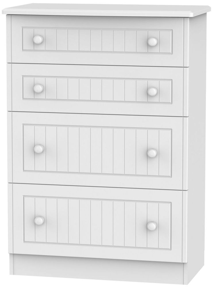 Warwick White 4 Drawer Deep Chest
