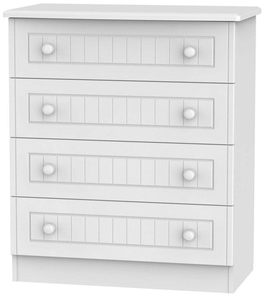 Warwick White 4 Drawer Chest