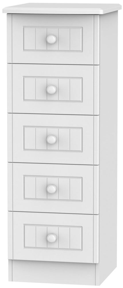 Warwick White 5 Drawer Locker Chest