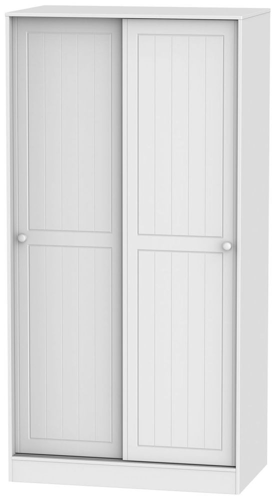 Warwick White 2 Door Wide Sliding Wardrobe
