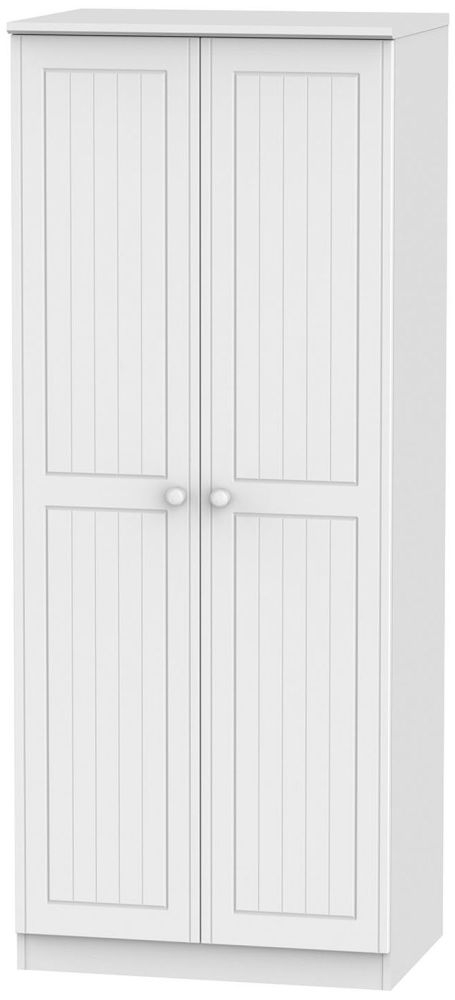 Warwick White 2 Door Plain Wardrobe