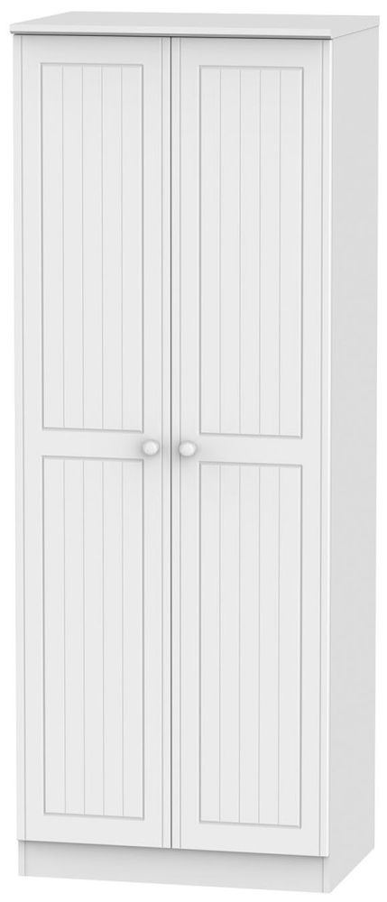 Warwick White Wardrobe - Tall 2ft 6in Plain