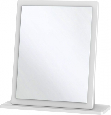 Clearance - Knightsbridge White Small Mirror - New - A-124