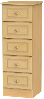 Clearance - Pembroke Beech 5 Drawer Tall Chest - New - A-153