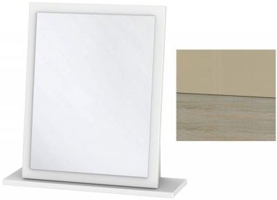 Clearance - Dubai High Gloss Mushroom and Darkolino Small Mirror - New - A-111