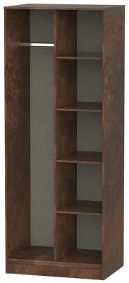 Clearance - Diego Copper Open Shelf Wardrobe - New - P-85