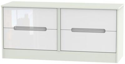 Clearance - Monaco Bed Box - High Gloss White and Kaschmir - New - P-107