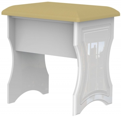 Clearance Balmoral White High Gloss Stool