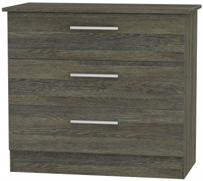Clearance Contrast Panga Chest of Drawer - 3 Drawer - W23