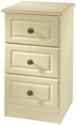Clearance Pembroke Cream Bedside Cabinet - 3 Drawer Locker - G383
