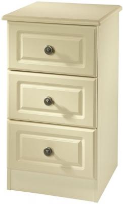 Clearance Pembroke Cream Bedside Cabinet - 3 Drawer Locker - G395
