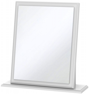 Clearance Pembroke High Gloss White Mirror - Small - G356