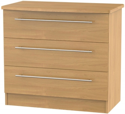 Clearance Sherwood Oak Chest of Drawer - 3 Drawer - G397
