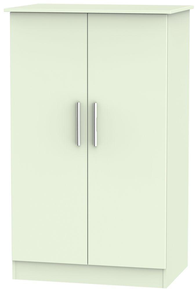 Clearance - Contrast Vanilla 2 Door Midi Wardrobe - New - P-112