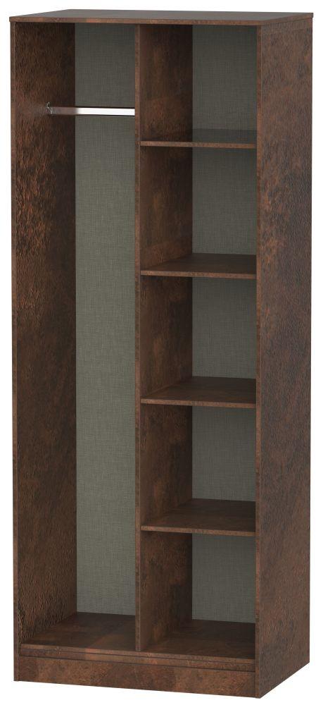 Clearance - Diego Copper Open Shelf Wardrobe - New - P-86