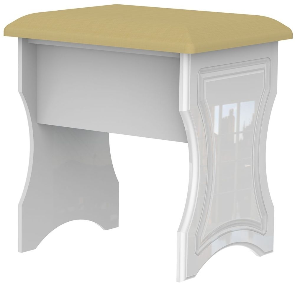 Clearance Balmoral White High Gloss Stool - A39
