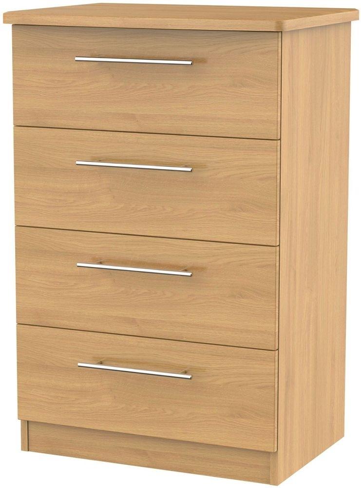 Clearance Sherwood Oak Chest of Drawer - 4 Drawer Midi - A29