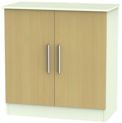 Welcome Living Room Furniture Elm and Vanilla Hall Unit - 2 Door