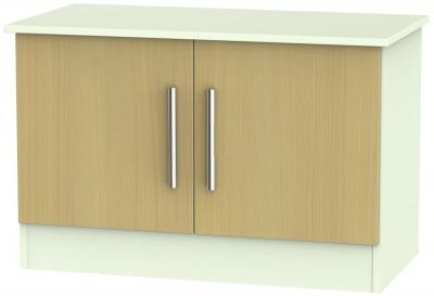 Welcome Living Room Furniture Elm and Vanilla Low Unit - 2 Door