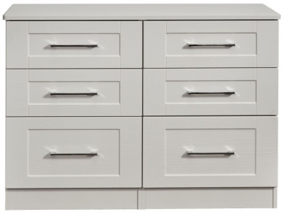 York Grey Ash 6 Drawer Midi Chest