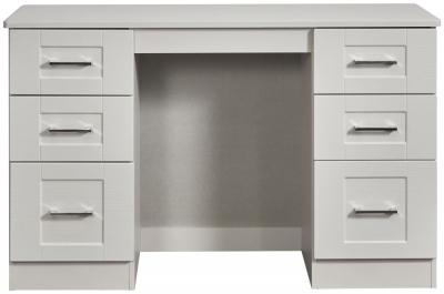 York Grey Ash Double Pedestal Dressing Table