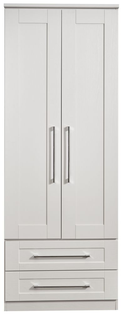 York Grey Ash 2 Door 2 Drawer Tall Wardrobe