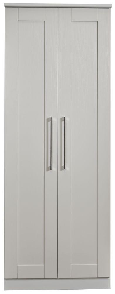 York Grey Ash 2 Door Tall Wardrobe