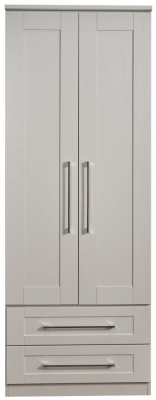 York Kaschmir Ash 2 Door 2 Drawer Tall Wardrobe