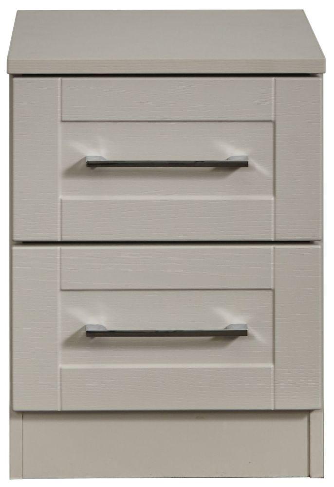 York Kaschmir Ash 2 Drawer Bedside Cabinet