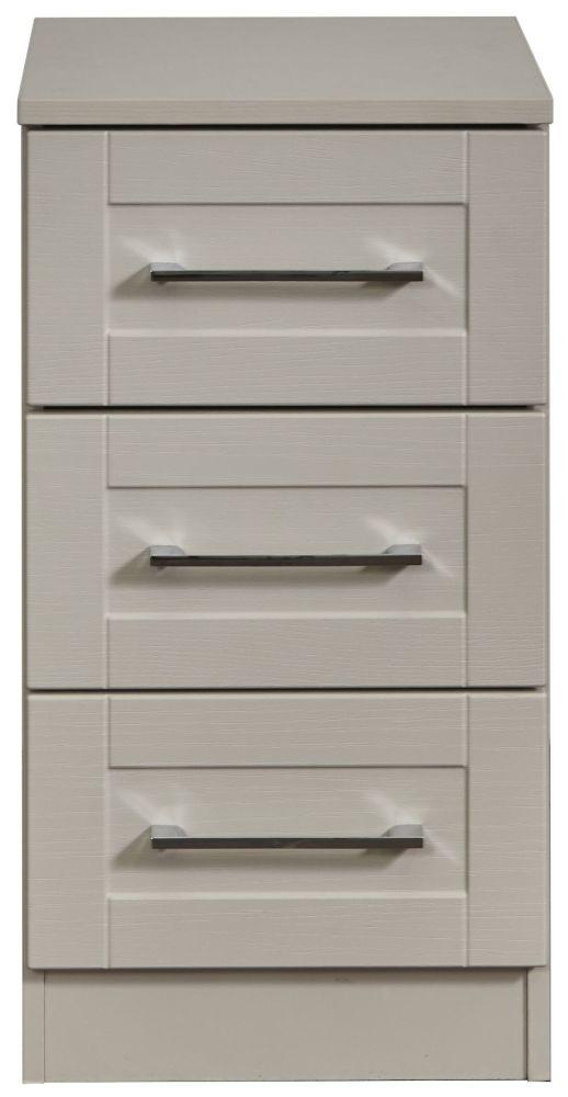York Kaschmir Ash 3 Drawer Bedside Cabinet