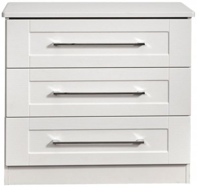 York White Ash 3 Drawer Chest