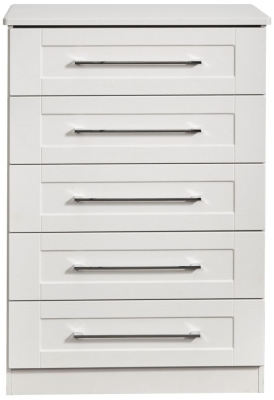York White Ash 5 Drawer Chest