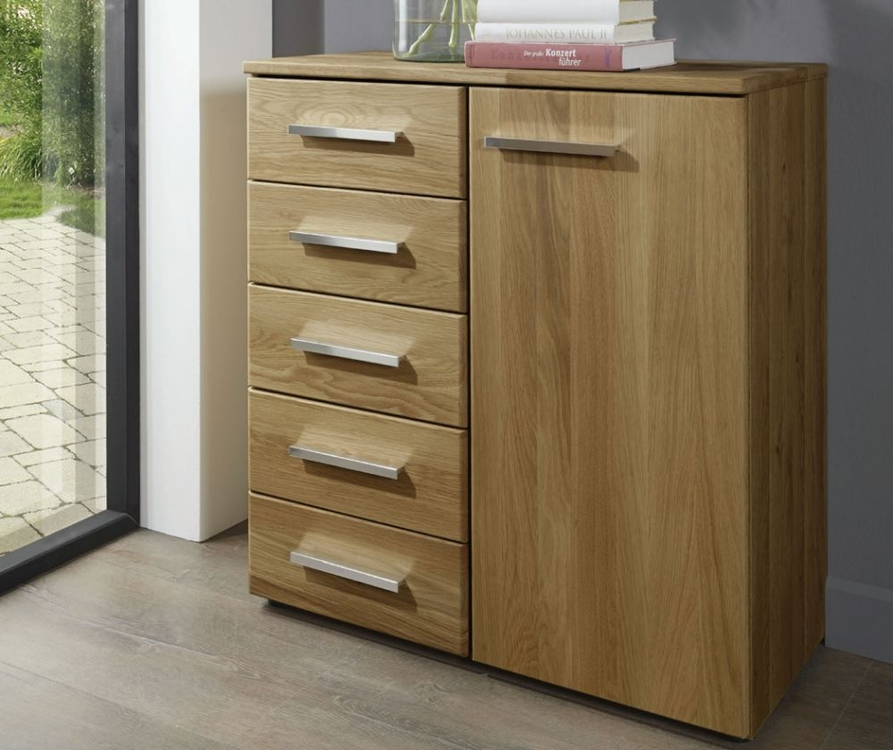 Wiemann Amalfi 1 Door 5 Drawer Combi Chest in Semi-Solid Alder