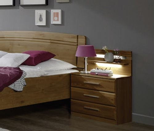 Wiemann Amalfi 2 Drawer Bedside Cabinet in Semi-Solid Alder
