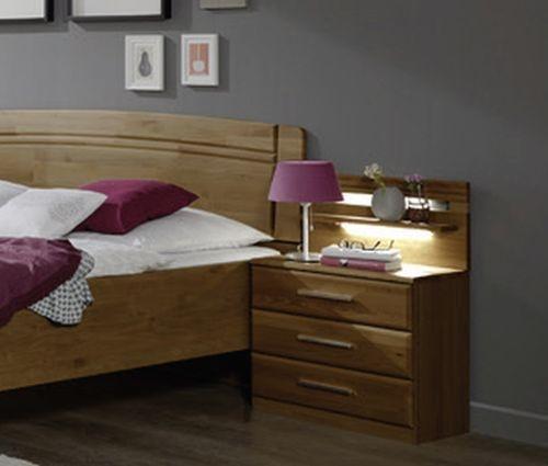 Wiemann Amalfi 3 Drawer Bedside Cabinet in Semi-Solid Alder