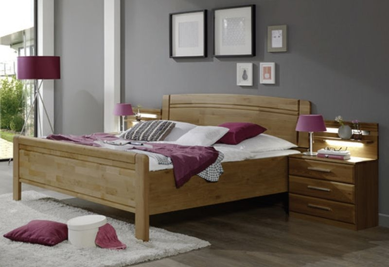 Wiemann Amalfi 6ft Queen Size Bed in Semi-Solid Alder - 180cm x 200cm