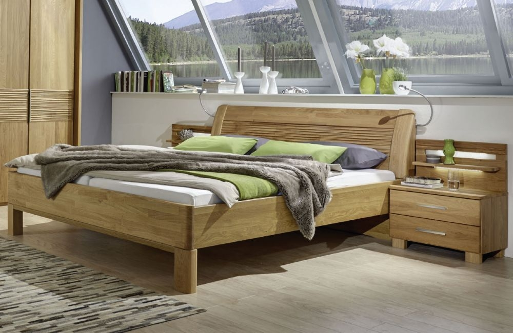 Wiemann Amalfi 6ft Queen Size Structure Nature Bed in Semi-Solid Oak - 160cm x 200cm