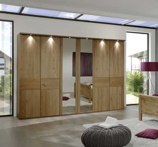 Wiemann Amalfi Wardrobe with Plain Cross Trim and Lock