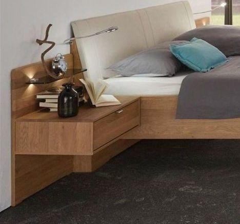 Wiemann Amato Solid Oak Bedside Cabinet - 1 Drawer H 43cm