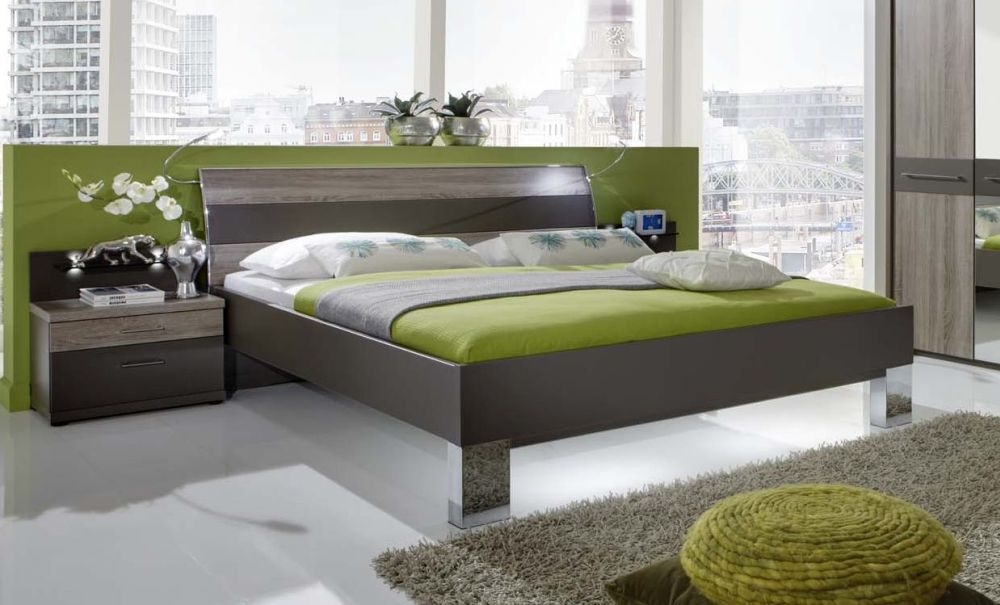 Wiemann Ancona Futon Bed with Chrome Square Feet