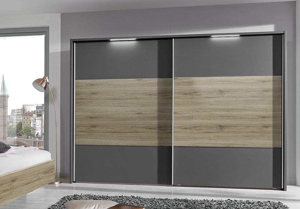 Wiemann Arizona 2 Door Sliding Wardrobe in Havana and Timber Oak - W 300cm