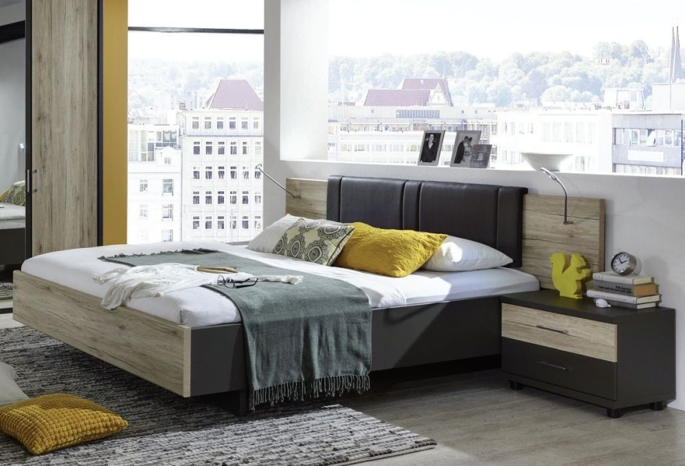 Wiemann Arizona Havana with Santana Oak 4ft 6in Double Bed - 140cm x 190cm