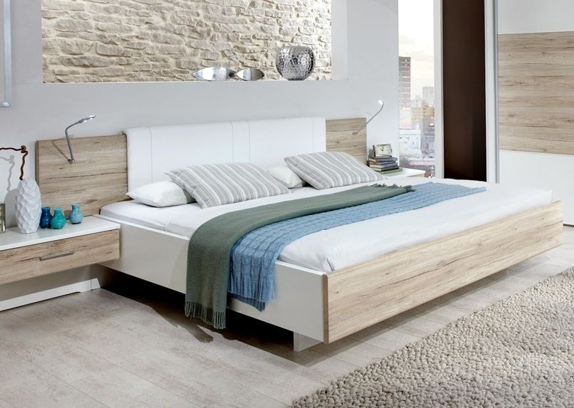 Wiemann Arizona White with Santana Oak 5ft King Size Bed - 150cm x 200cm