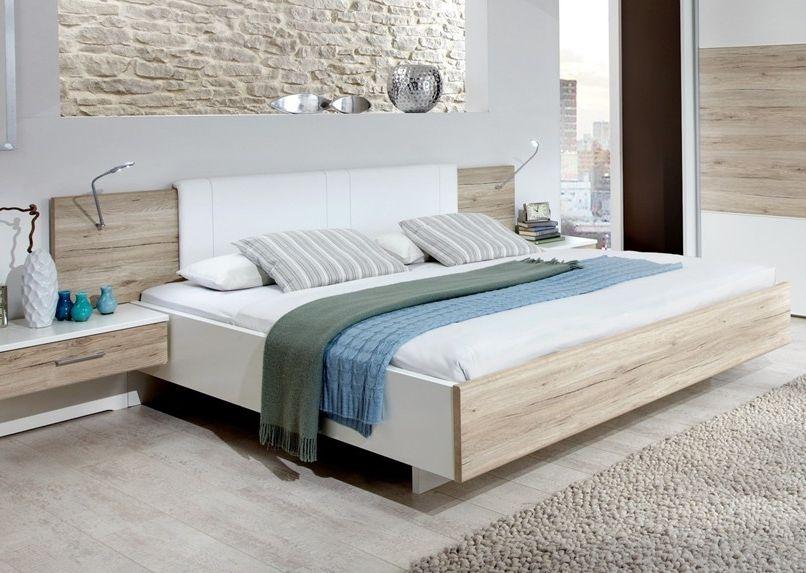 Wiemann Arizona White with Santana Oak 6ft Queen Size Bed - 180cm x 200cm