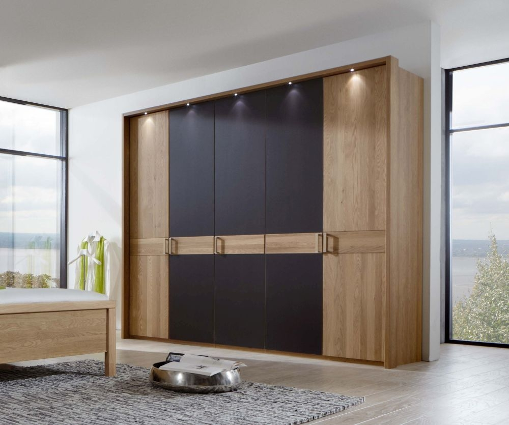 Wiemann Avore Wardrobe without Cornice - Centre Door in Mocha Finish