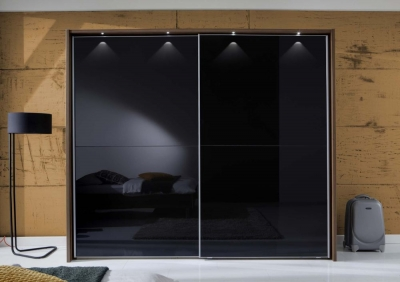 Wiemann Berlin Sliding Wardrobe with Full Glass or Crystal Mirror Front Panels